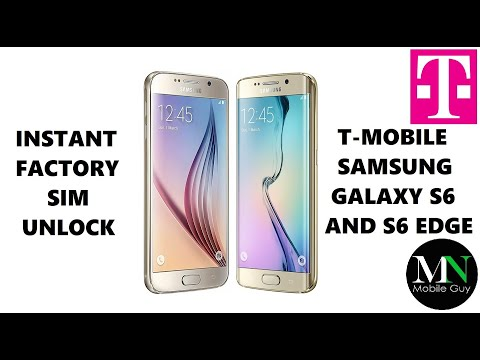 T-Mobile Samsung Galaxy S6 And S6 Edge Successfully Factory SIM Unlocked!