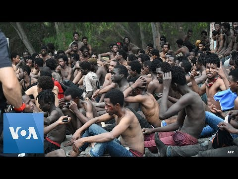 155 Migrants Jump Fence From Morocco to Spain