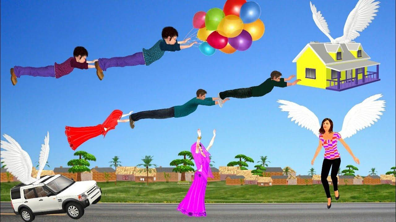 गायब घर जादुई कहानी 3D Hindi Kahaniya Flying House कहानी Bed Time Stories हिंदी कहानिया Fairy Tales