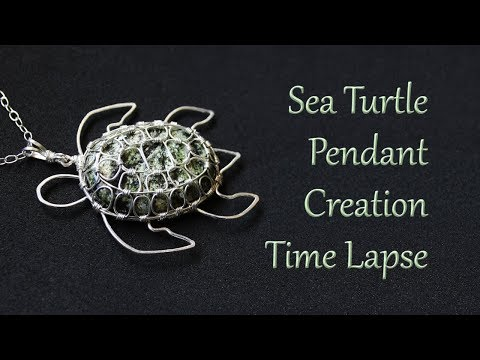 Making a Sea Turtle Pendant - Time Lapse - Wire Wrapped Jewelry Creation Process