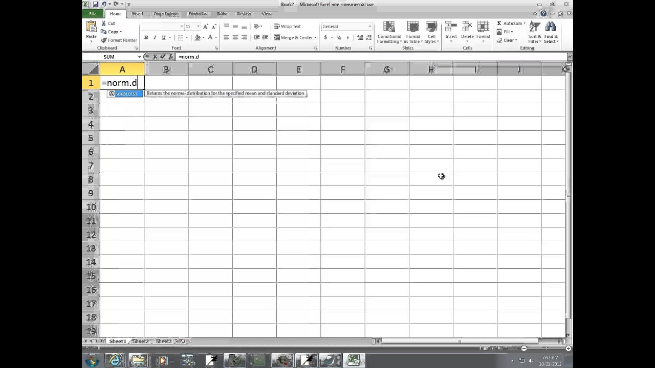 Excel Distribution Of Sample Mean Central Limit