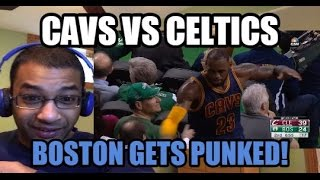 LEBRON'S DISRESPECTFUL BEATDOWN! Cleveland Cavaliers vs Boston Celtics HIGHLIGHTS (REACTION)