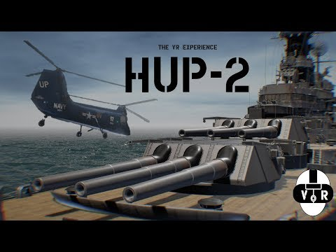 VR Experience: Helicopter flight simulator of the Battleship IOWA Hup2