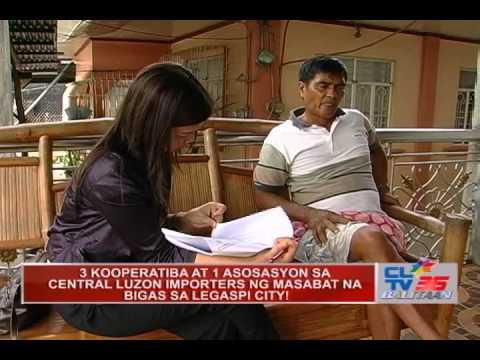 3 KOOPERATIBA AT 1 ASOSASYON SA CENTRAL LUZON IMPORTERS NG NASABAT NA BIGAS SA LEGASPI CITY!