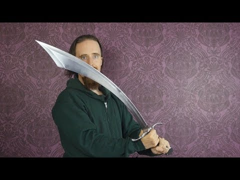 Download Review: Two-handed Scimitar by Sabersmith - Tough and Curvy!