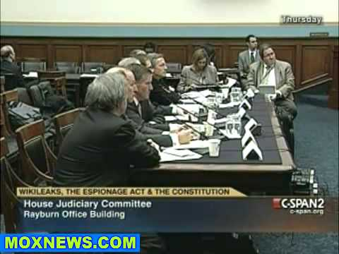 Congressional Hearing  WikiLeaks, The Espionage Act   The Constitution pt.14.flv