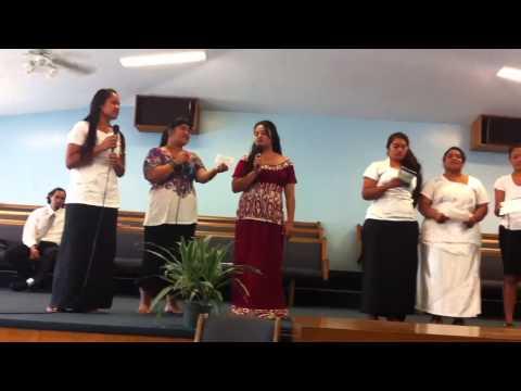 Samoa-Tokelau Youth girls praising God through singing