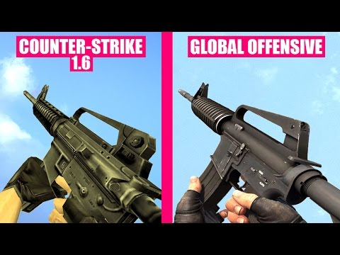 Counter-Strike Global Offensive Gun Sounds vs Counter-Strike 1.6