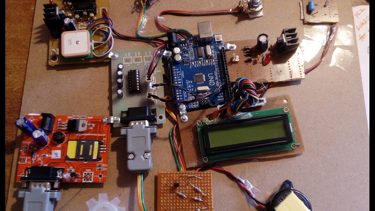 Arduino Based Vehicle Accident Detection With Vibration, Alcohol, Speed  sensors's, GSM & GPS