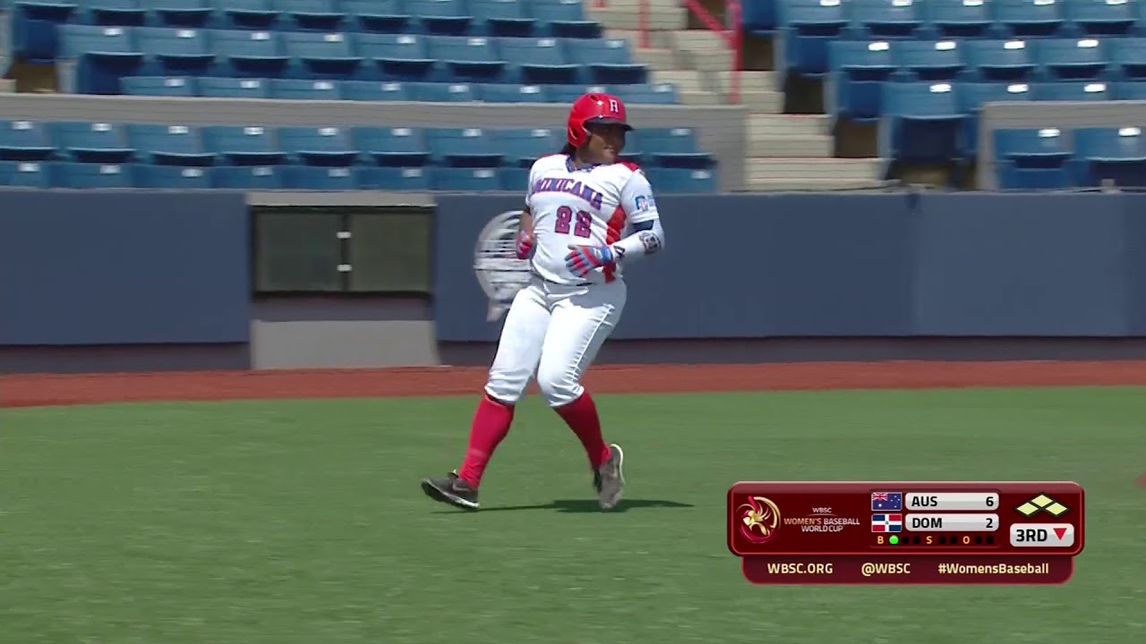 Highlights: Australia v Dominican Rep. - Women's Baseball World Cup