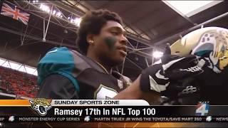 Jalen Ramsey #17 on NFL Top 100 Countdown WJXT Segment