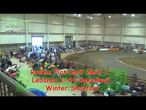 Rookie Flat Kart Heat 1   I 44 Speedway Winter Shootout 1 20 2018
