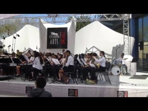 Chamblee Middle School band at Disney/Epcot