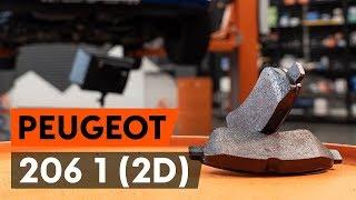 Montering Bromsbeläggsats fram och bak PEUGEOT 206: videoinstruktioner
