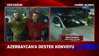 Ankara'da Azerbaycan'a Destek Konvoyu