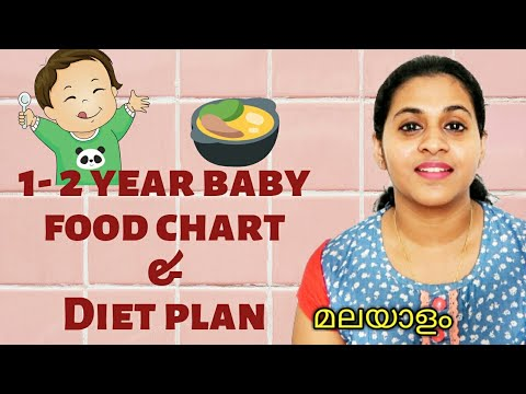 1 - 2 Year Baby Food Chart And Diet Plan