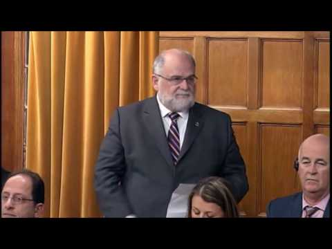 Ron McKinnon asks a question in the House of Commons on Oct 25, 2016
