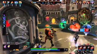 [SMITE] Vulcan ult triple kill on Arena (with commentary!)