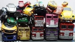 Full Transformers Stop motion - Optimus Prime, Bumblebee, Tobot Robot & Lego Superheroes Car Toys