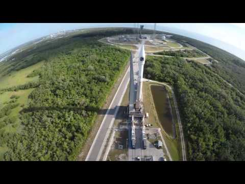 Orbital ATK CRS-7 Atlas V Rolls to Launch Pad