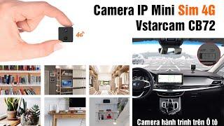 Camera Mini IP Vstarcam CB72 1080P 2 0 Sim 4G Giám Sát Hành Trình Ô Tô, Xem Trực Tiếp Từ Xa Bằng ĐT