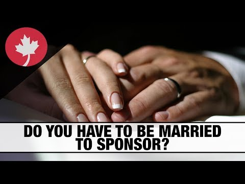 Do you have to be married to sponsor your partner to Canada?