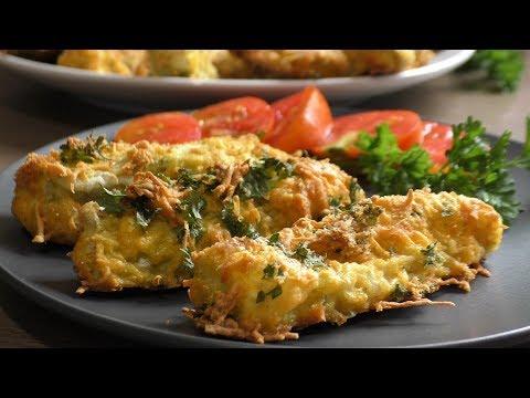 Кабачки в сырной панировке - рецепт для лакто-ово-вегетарианцев