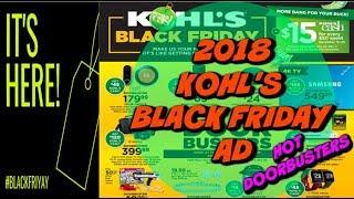 2018 Kohl's Black Friday Ad | Doorbuster Deals | Full Ad!