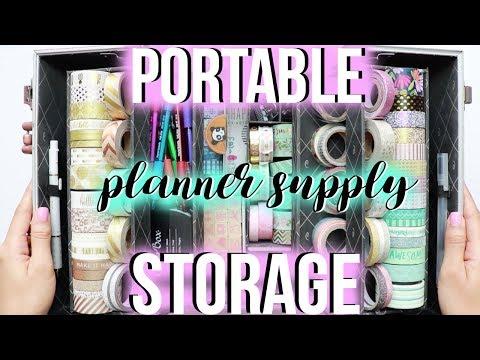 My Portable Planner Supply Storage