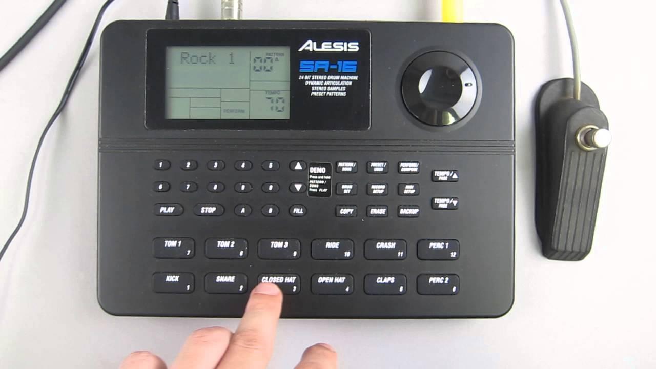 Drum Machine Midi : alesis digital drum machine midi dr 16 youtube ~ Hamham.info Haus und Dekorationen