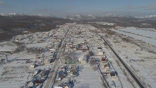 Ключи. ГО Южно-Сахалинск.  Вид сверху. 15 декабря 2018 года