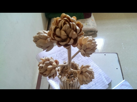 how to make Pista shell flower and plant .