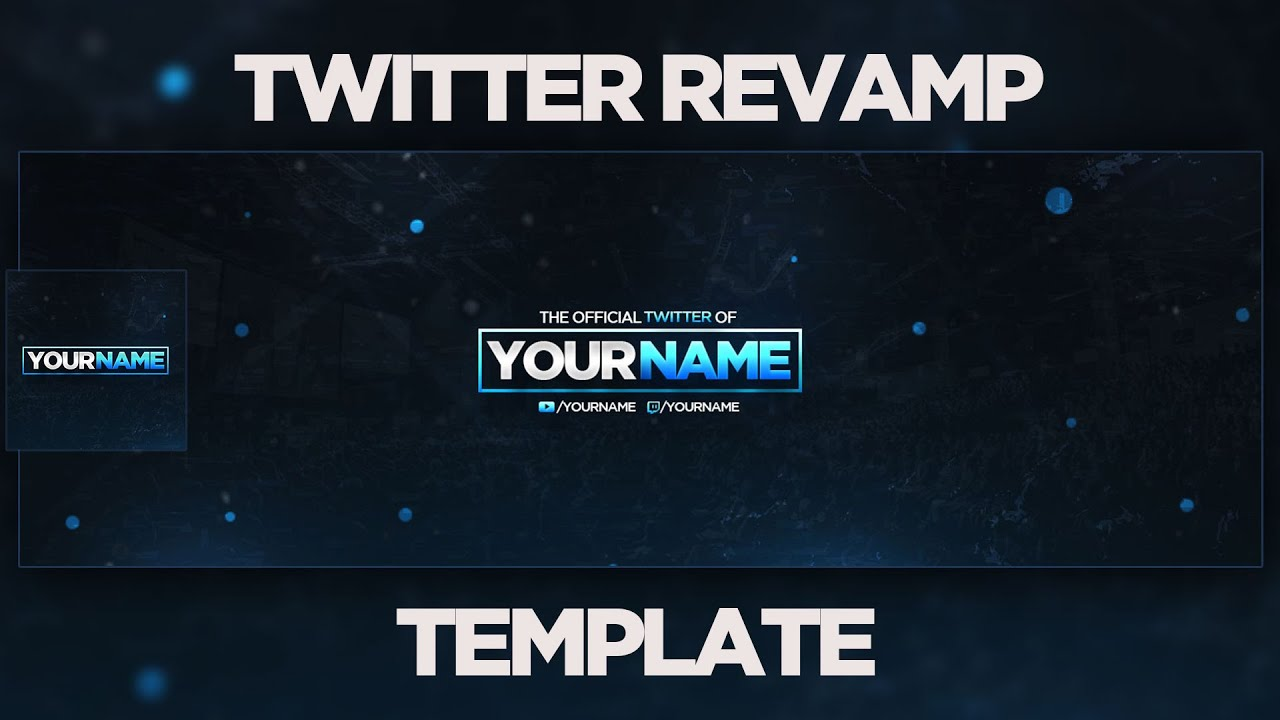 Blue Abstract Twitter Revamp Template Free Download