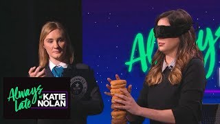 Katie Nolan stacks doughnuts blindfolded for Guinness World Record | Always Late with Katie Nolan