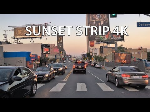 Los Angeles 4K - Sunset Strip - Driving Downtown USA
