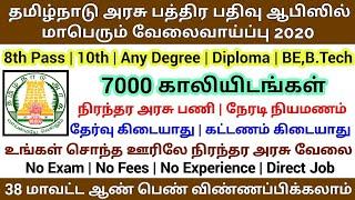 தமிழ்நாடு அரசு பத்திர பதிவு ஆபிஸில் வேலைவாய்ப்பு 2020  Permanent Job  Tamilnadu Government Jobs 2020