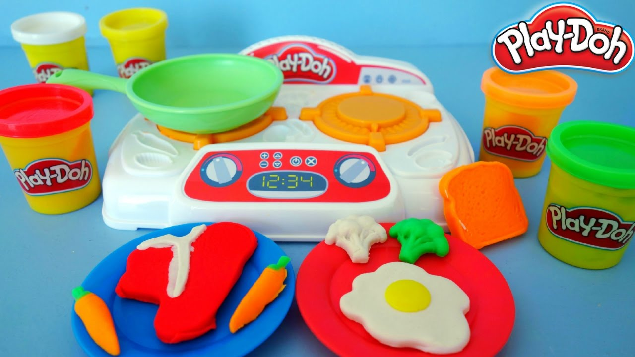 Play Doh Küche Youtube Play Doh Kitchen Creations Unboxing And Playing