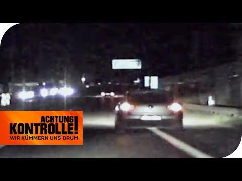 Schlangenlinien auf der Autobahn: Steht der Fahrer unter Drogen? | Achtung Kontrolle | kabel eins