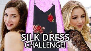 Silk Dress OUTFIT CHALLENGE?! w/ CHLOE LUKASIAK