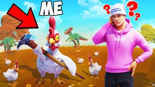 Playing HIDE & SEEK with CUSTOM FORTNITE Skins!
