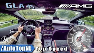 Mercedes AMG GLA 45 2018 ACCELERATION & TOP SPEED on AUTOBAHN by AutoTopNL