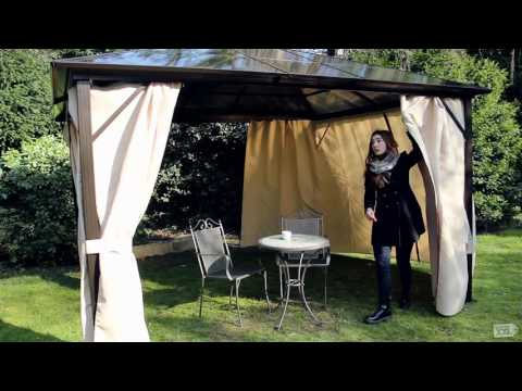 leco profi pavillon gartenxxl youtube. Black Bedroom Furniture Sets. Home Design Ideas