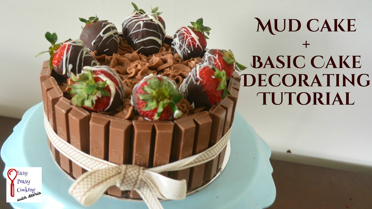 How To Decorate A Cake Mud Recipe YouTube
