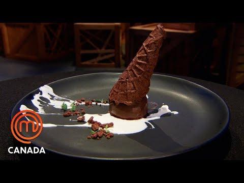 Fallen Ice Cream Cone Dessert For The Finale | MasterChef Canada | MasterChef World