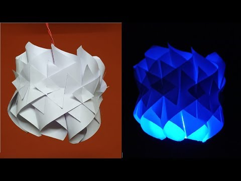 DIY PAPER LAMP/ How to make paper lantern very easily / Pandent paper lamp BY Agarwal Crafters