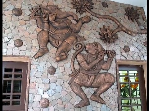 Wall relief mural art in cement artistic elevation youtube for Cement art design