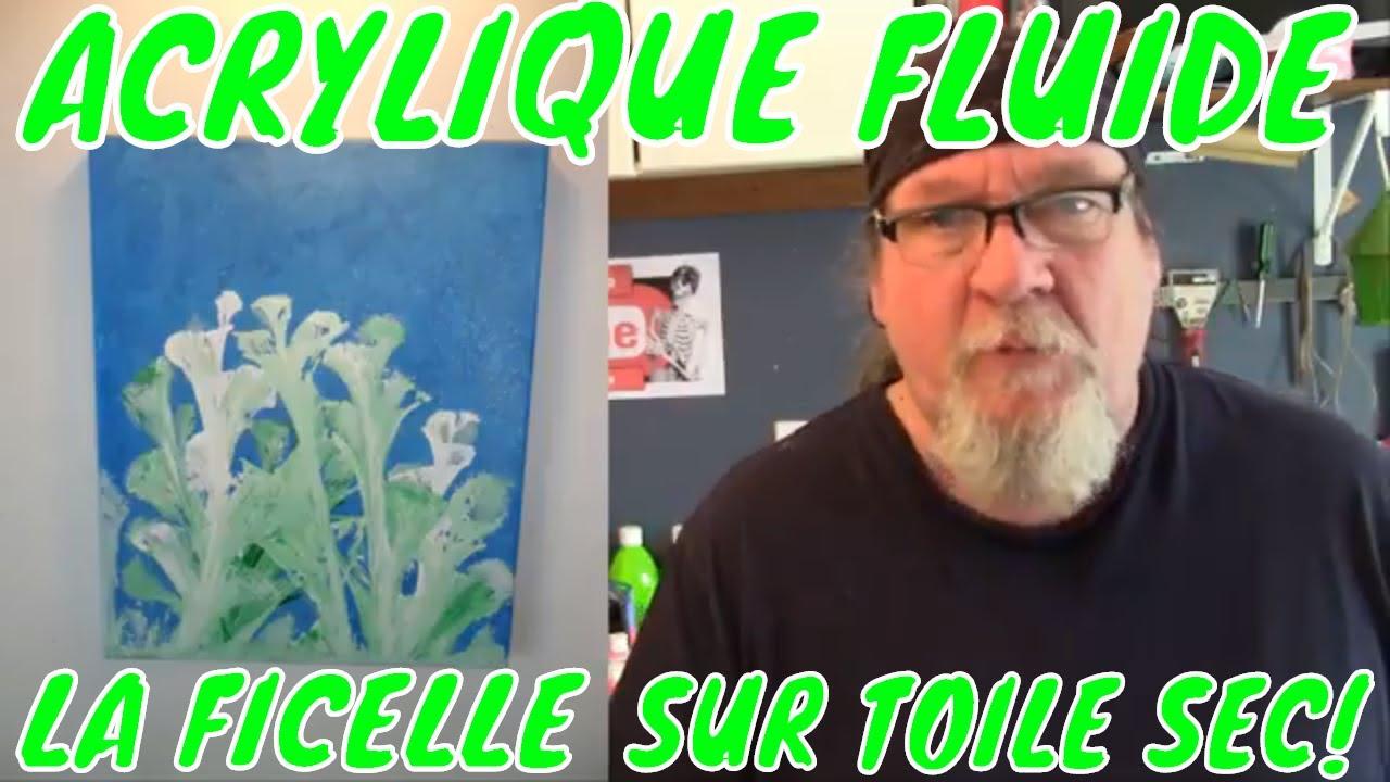 Acrylique Fluide Technique De La Ficelle Sur Fond Sec Recycler