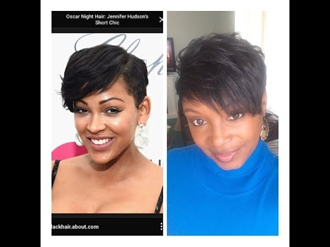 Short Hair Tutorial - Meagan Good Inspired - YouTube