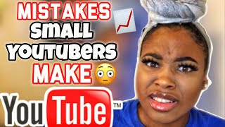 THESE YOUTUBER MISTAKES ARE KEEPING YOU SMALL