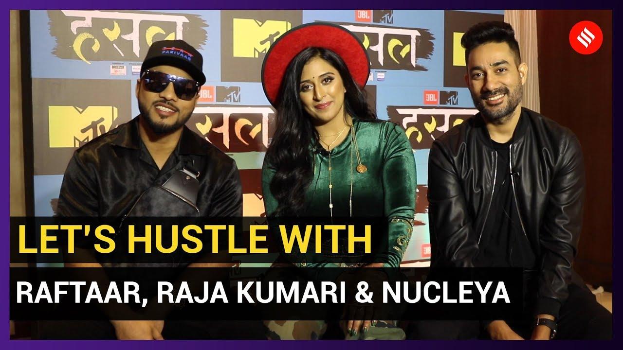 Raftaar, Nucleya and Raja Kumari freestyle rap on the spot   MTV Hustle